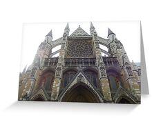 Abbey Facade Greeting Card