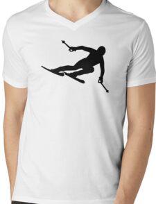 Ski racing Mens V-Neck T-Shirt