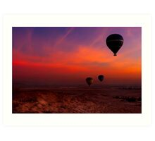 Hot Air Balloons Over The Valley Of The Kings Art Print