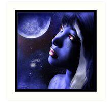 Blue Moon Art Print