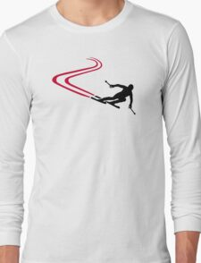 Downhill ski tracks Long Sleeve T-Shirt