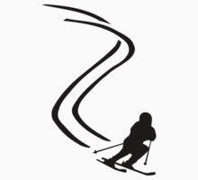 Downhill ski racing by Designzz