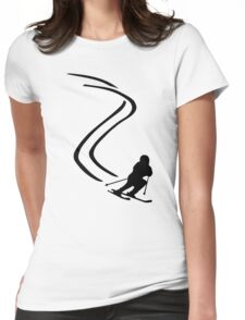 Downhill ski racing Womens Fitted T-Shirt