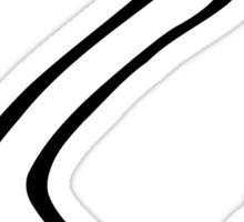 Downhill ski racing Sticker