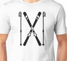Crossed ski Unisex T-Shirt