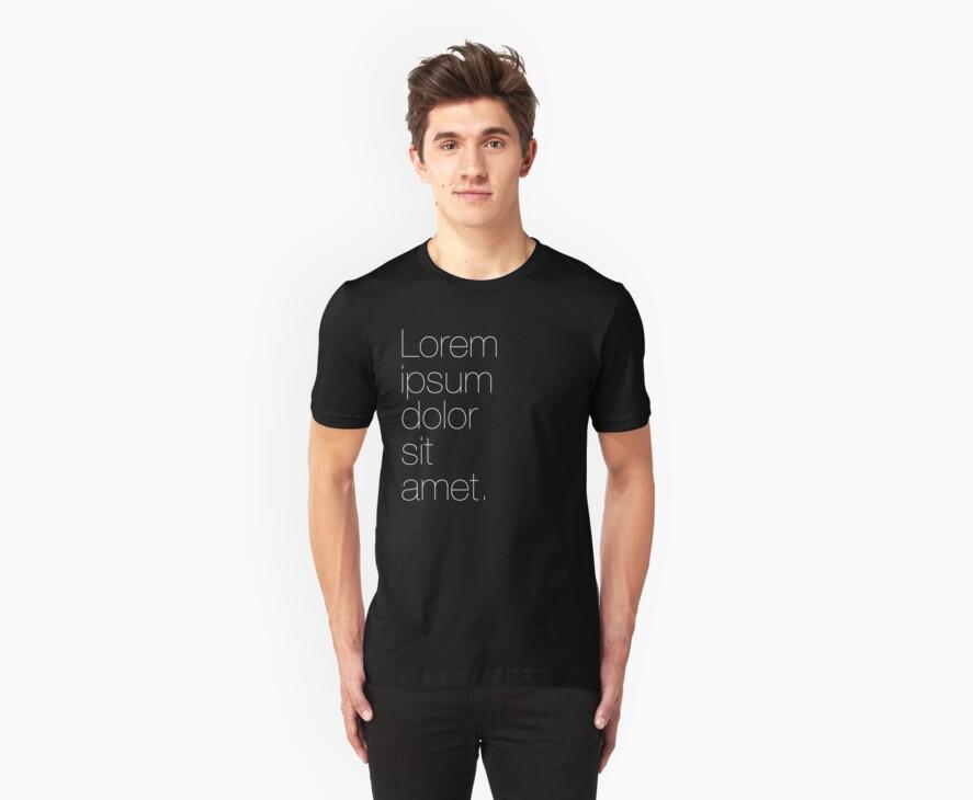 Lipsum (Black Shirt) by cmdrk