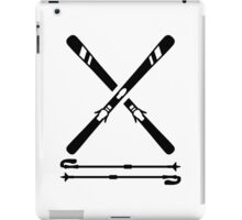 Crossed ski equipment iPad Case/Skin