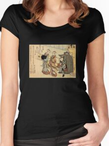 'Lady' by Katsushika Hokusai (Reproduction) Women's Fitted Scoop T-Shirt