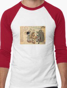 'Lady' by Katsushika Hokusai (Reproduction) Men's Baseball ¾ T-Shirt