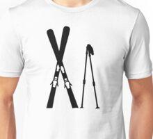 Crossed ski sticks Unisex T-Shirt