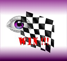 Checked Flag for a Win!!! by Ann Warrenton