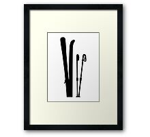 Skiing equipment Framed Print