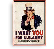 Uncle Sam Canvas Print