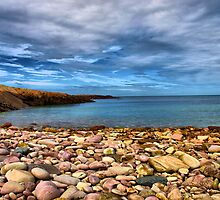 Stoney Bay At Houmet Herbe by James Vizard
