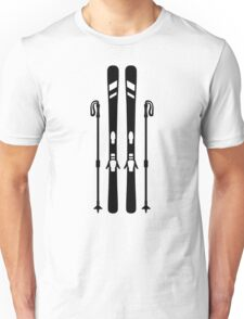 Downhill ski equipment Unisex T-Shirt