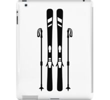 Downhill ski equipment iPad Case/Skin