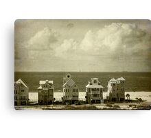 Beachfront Houses Canvas Print