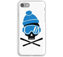 Skiing skull iPhone Case/Skin