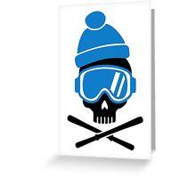 Skiing skull Greeting Card