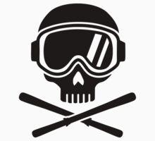 Skull crossed ski Kids Tee