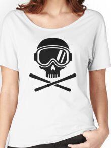 Skull crossed ski Women's Relaxed Fit T-Shirt