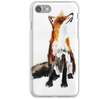 Woodland Fox acrylics on paper iPhone Case/Skin
