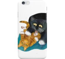 Bath Time for Tiger Kitten iPhone Case/Skin