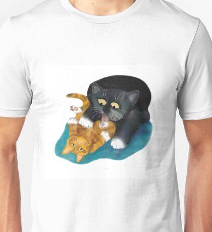 Bath Time for Tiger Kitten Unisex T-Shirt