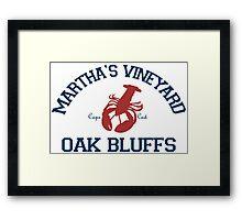 Oak Bluffs - Martha's Vineyard.  Framed Print