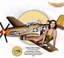 Hurry Home Honey - P-51D Mustang by A. Hermann