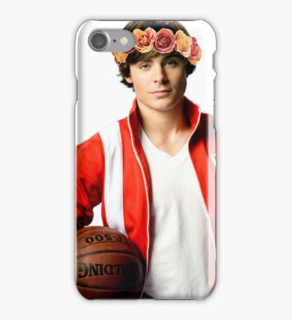 Zac Efron Flower Crown iPhone Case/Skin