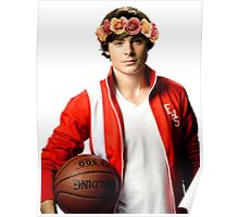 Zac Efron Flower Crown Poster