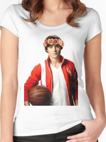 Zac Efron Flower Crown Women's Fitted Scoop T-Shirt