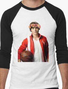 Zac Efron Flower Crown Men's Baseball ¾ T-Shirt