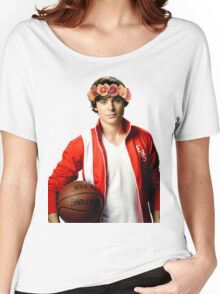 Zac Efron Flower Crown Women's Relaxed Fit T-Shirt