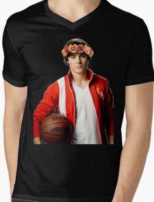 Zac Efron Flower Crown Mens V-Neck T-Shirt
