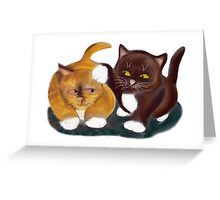 Let Go of my Ear Growls Kitten Greeting Card
