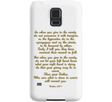 Matthew 6:24 Samsung Galaxy Case/Skin