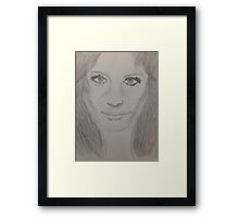 Stana Katic Illustration Framed Print
