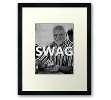 Hide the Pain Harold - SWAG Framed Print