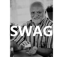 Hide the Pain Harold - SWAG Photographic Print