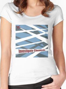 Investigate Chemtrails Women's Fitted Scoop T-Shirt