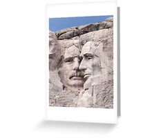 Theodore Roosevelt and Abraham Lincoln, Mount Rushmore National Memorial  Greeting Card