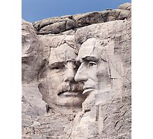 Theodore Roosevelt and Abraham Lincoln, Mount Rushmore National Memorial  Photographic Print