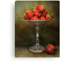 Strawberries On A Pedestal Canvas Print