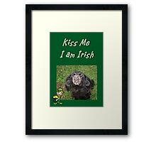 Kiss Me I am Irish Framed Print