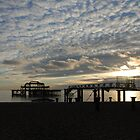 West Pier - All that's left by Barry Goble