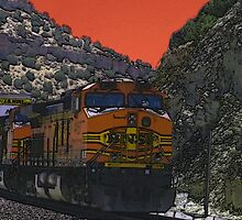 BNSF Engine 4157, Abo Canyon, NM by Mitchell Tillison