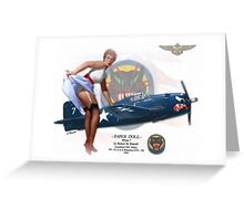 Paper Doll - F6F Hellcat Greeting Card