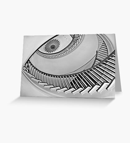 Winterthur spiral staircase Greeting Card